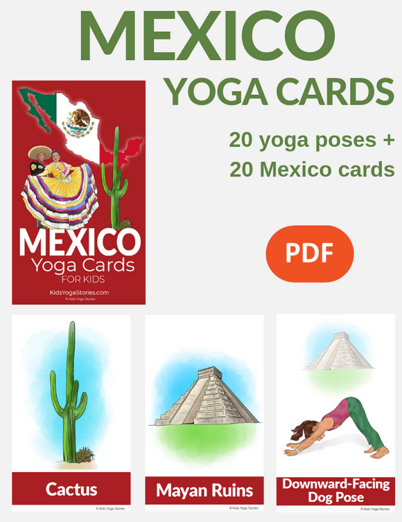 Mexico Yoga Cards for Kids