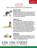 Sample pages or images for monthly kids yoga themes