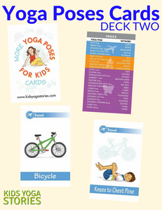 Front cover page or cover image for yoga poses for kids cards deck two Cards