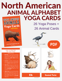 North American Animals Alphabet Yoga Cards for Kids