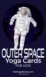 Yoga cards for kids outer space