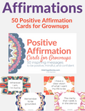 Positive Affirmation Cards for Grownups