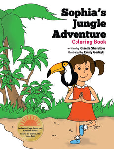 Front cover page or cover image for sophias jungle adventure coloring book Coloring Book