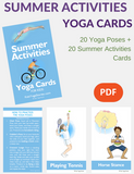 Summer Activities Yoga Cards for Kids