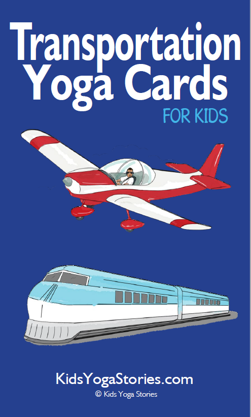 Transportation Yoga Cards for Kids