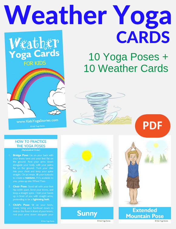 Weather Yoga Cards for Kids