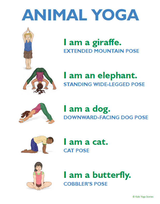 Simple Yoga Sequences For Kids Kids Yoga Stories