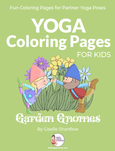 Yoga Coloring Pages for Kids  - Garden Gnomes