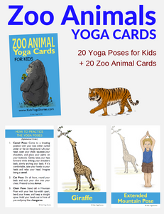 Zoo Animals Yoga Cards for Kids