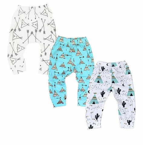 3 Pairs of Baby / Child Leggings (0 - 24 months) Tipi