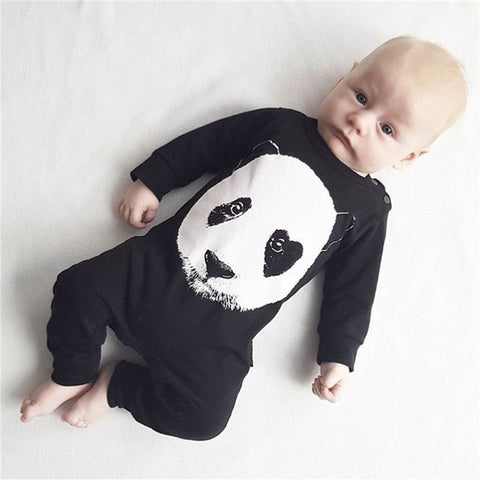 Panda One Piece Romper (0 - 18 months) www.bluebelelleloves.com
