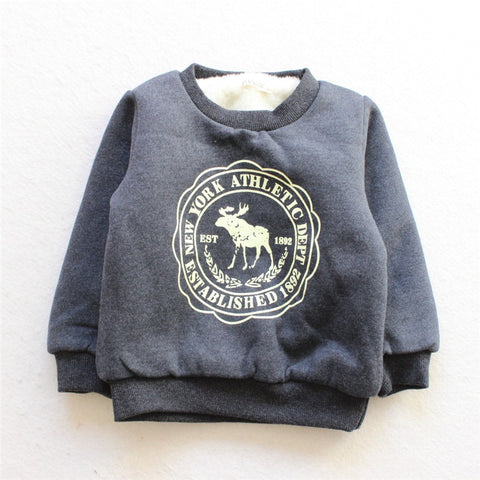 Fleece Lined Thick Warm Jumper Outerwear Baby Toddler 6 - 24 months ( More Colours)