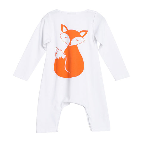 White Fox Back Sleepsuit (0 - 18 months) www.bluebelleloves.com