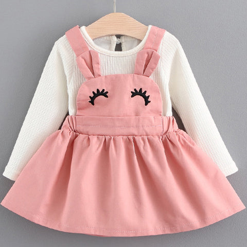 Cute Pink Eyelashes Dress (3 - 24 months)