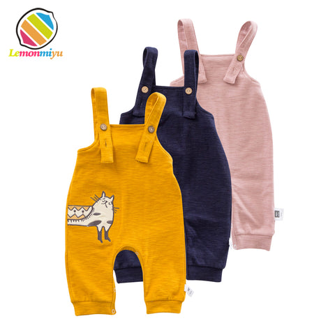 Baby Dungarees with Cat Design (0 - 24 months)