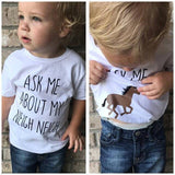 Ask Me About My Neigh Neigh Horse T Shirt (3 months - 4 years) www.bluebelleloves.com