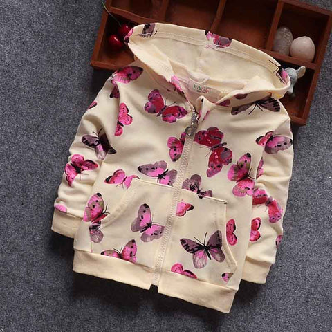 Butterfly Baby Girls Hooded Sweatshirt (6 - 24 months)