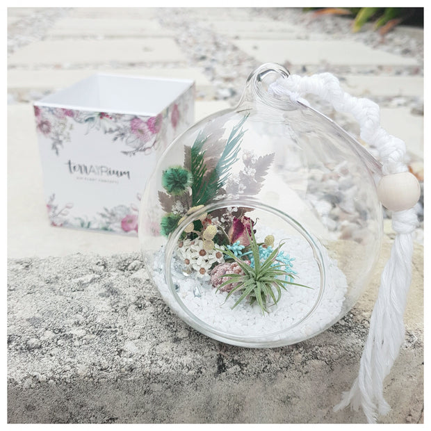 terrAIRium glass garden boho bauble
