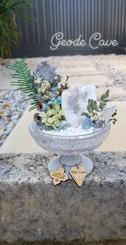 Crystal Garden w Geode Cave & Concrete Footing