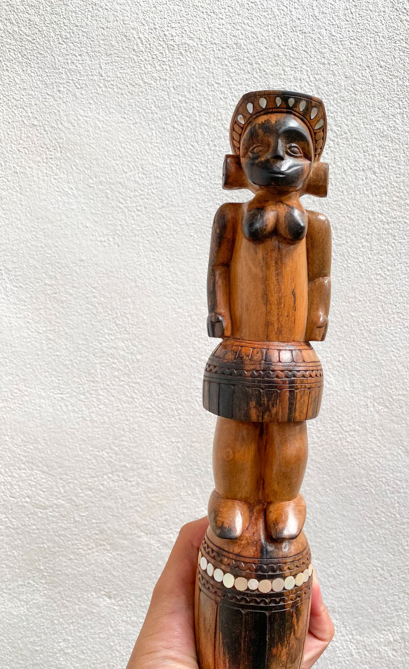 Figurine with Shell Inlay