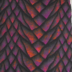 RETAIL Magenta Fire Dragon Scales Cotton Lycra Tumbler/Cup Cuts