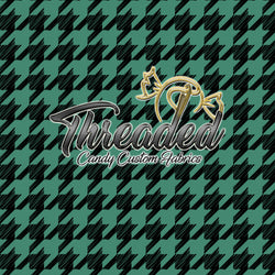 PREORDER 708 Black Green Houndstooth
