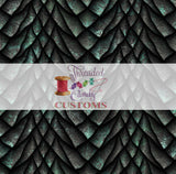 Retail Patina Dragon Scales Tumbler/cup cut, Cotton Lycra
