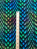 "RETAIL Rainbow Paint Flecks Dragon Scales, Cotton Lycra Tumbler/Cup cut (9""x14"")"
