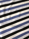 RETAIL Slate/Black/Gray/White Stripes- Double Brushed Poly