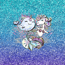 PERPETUAL PREORDER Mercorn/Narwhal Child Topper Minky