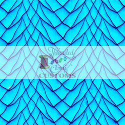 RETAIL Neon Cyan Dragon Scales Tumbler/Cup Cut