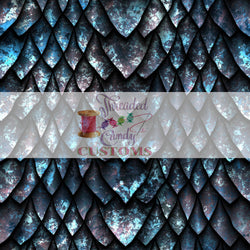 "Retail Frozen Oxide Dragon Scales, Cotton Lycra Tumbler/Cup Cut (9x14"")"
