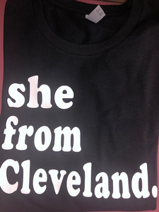 She From Cleveland Blk & White