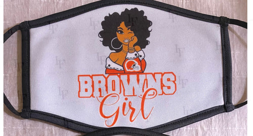 Browns Gyrl  Mask