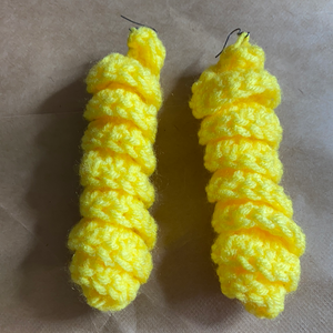 Crochet twist earrings