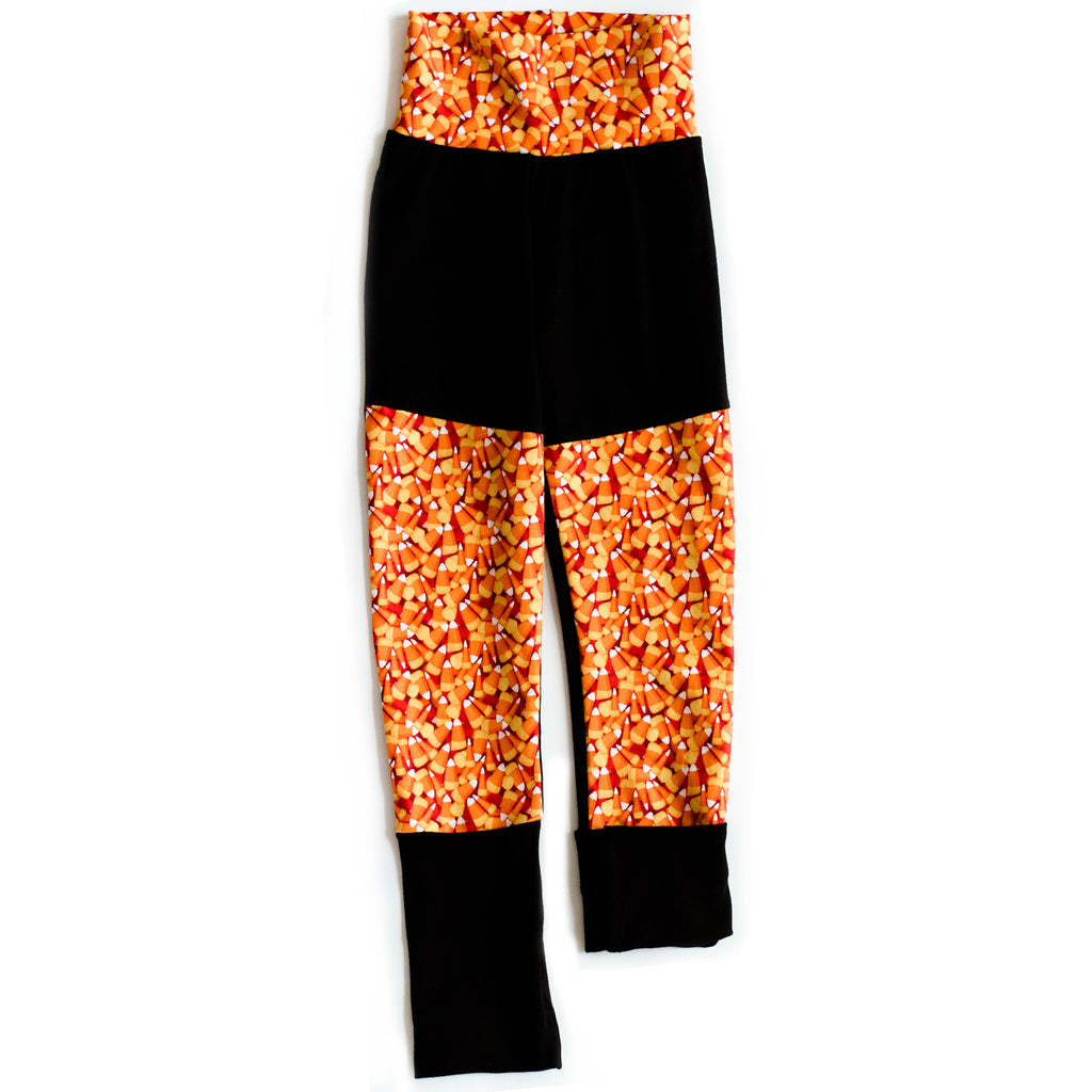 Grow Along Pants with Black Cuffs | Candy Corn
