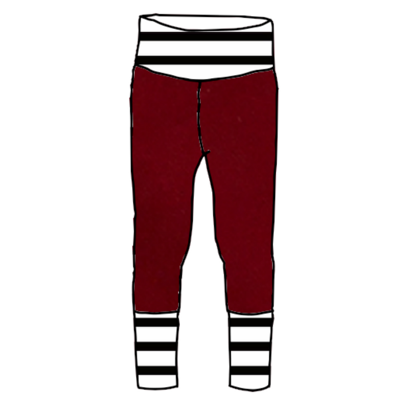 Chili Joggers with Black & White Stripes