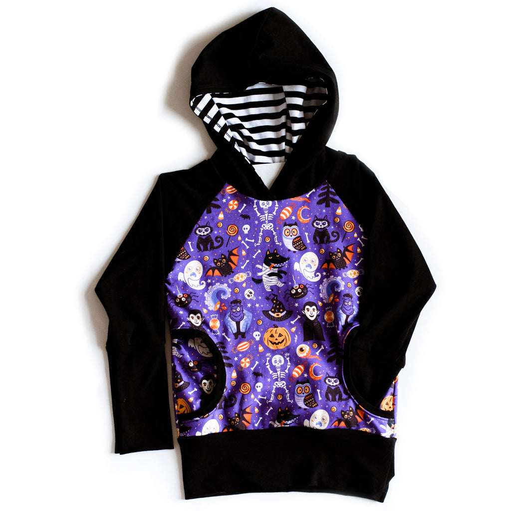 Bunny Hug Hoodie with Black Cuffs | Halloween Pals