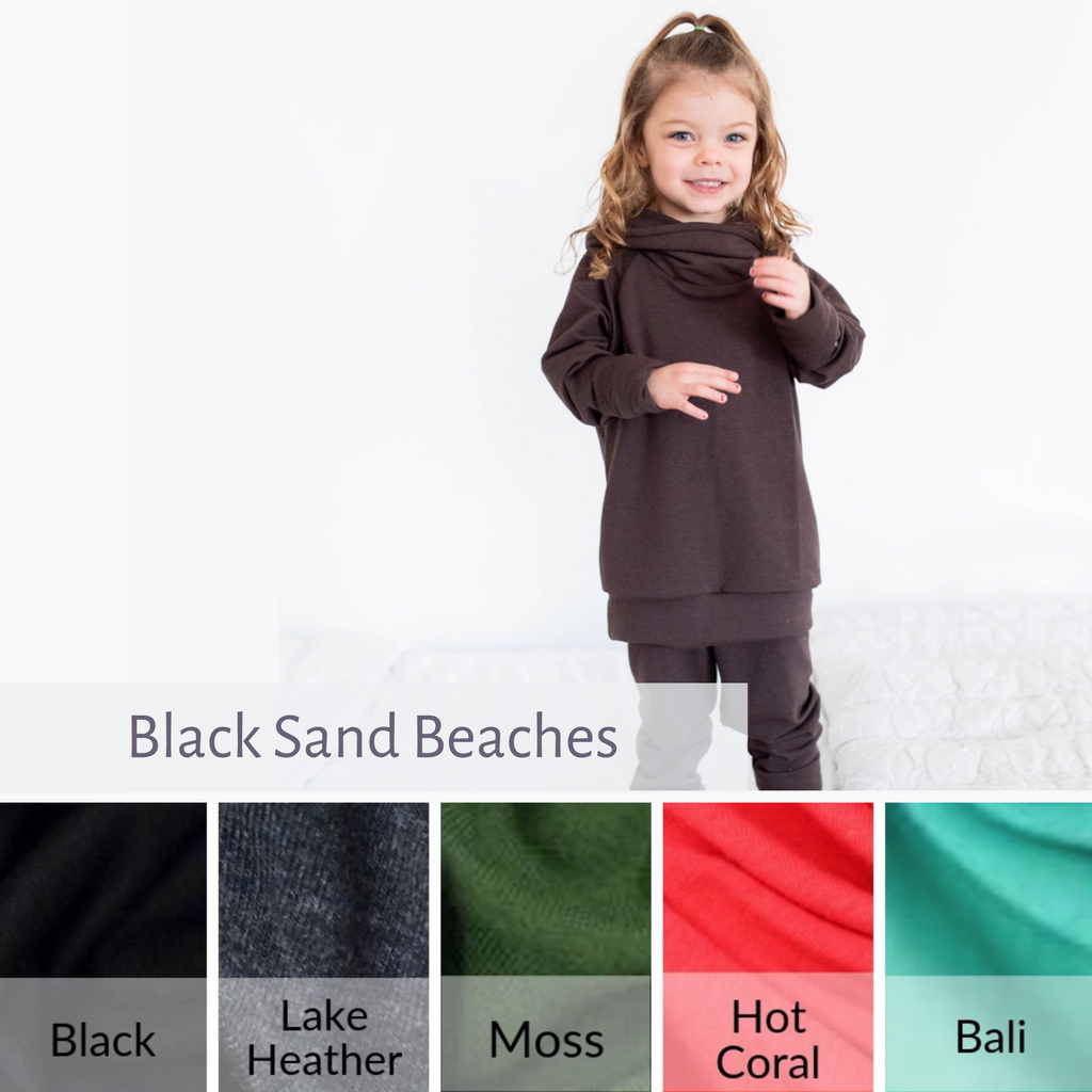 OUTFIT | Cowl Neck Sweatshirt and Joggers | Black Sand Beaches | PRE-ORDER