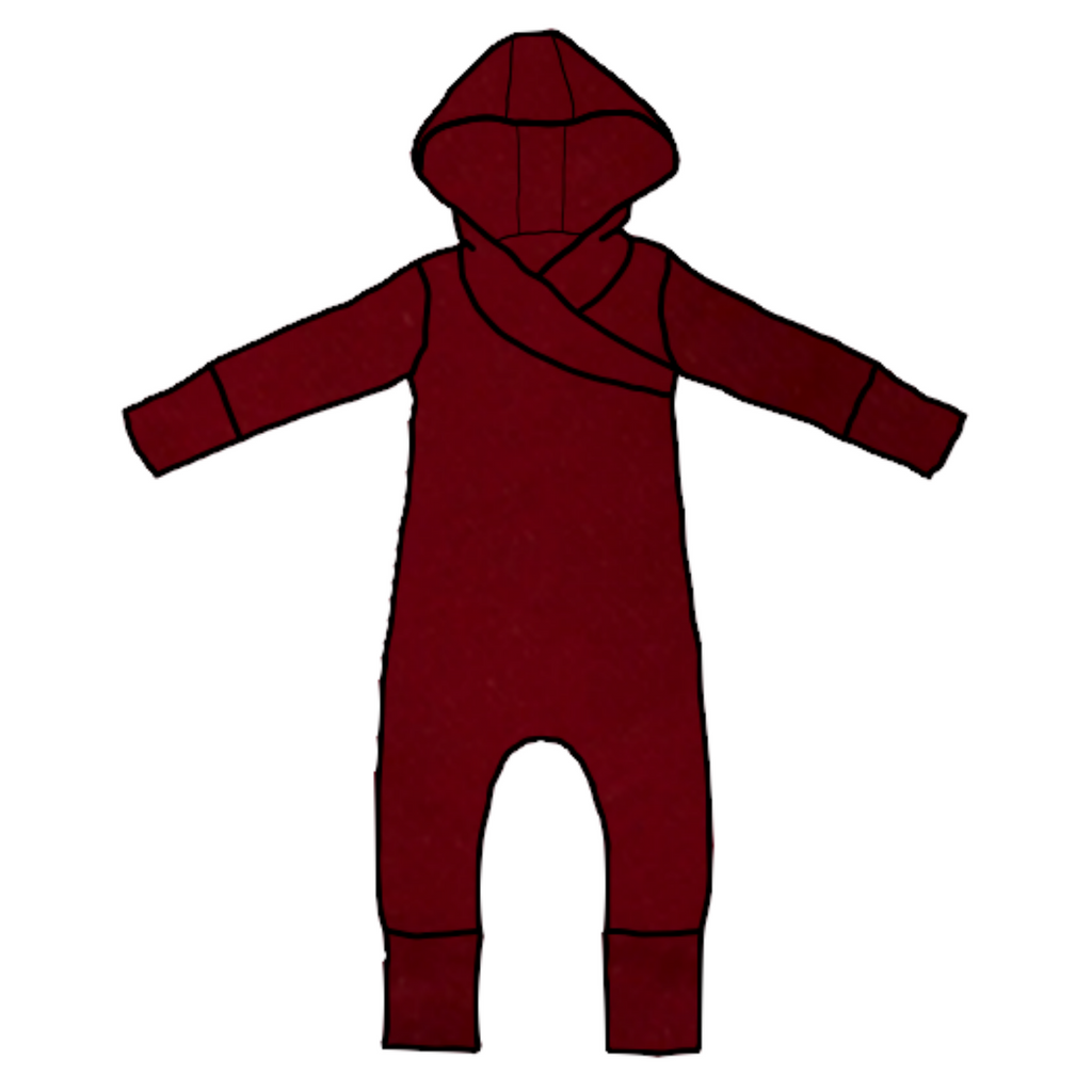 Chili Long Sleeve Hooded Romper