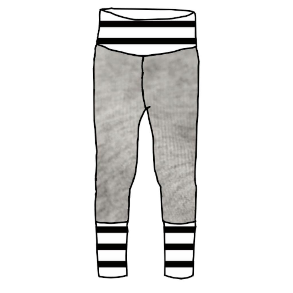 Paloma Joggers with Black & White Stripes