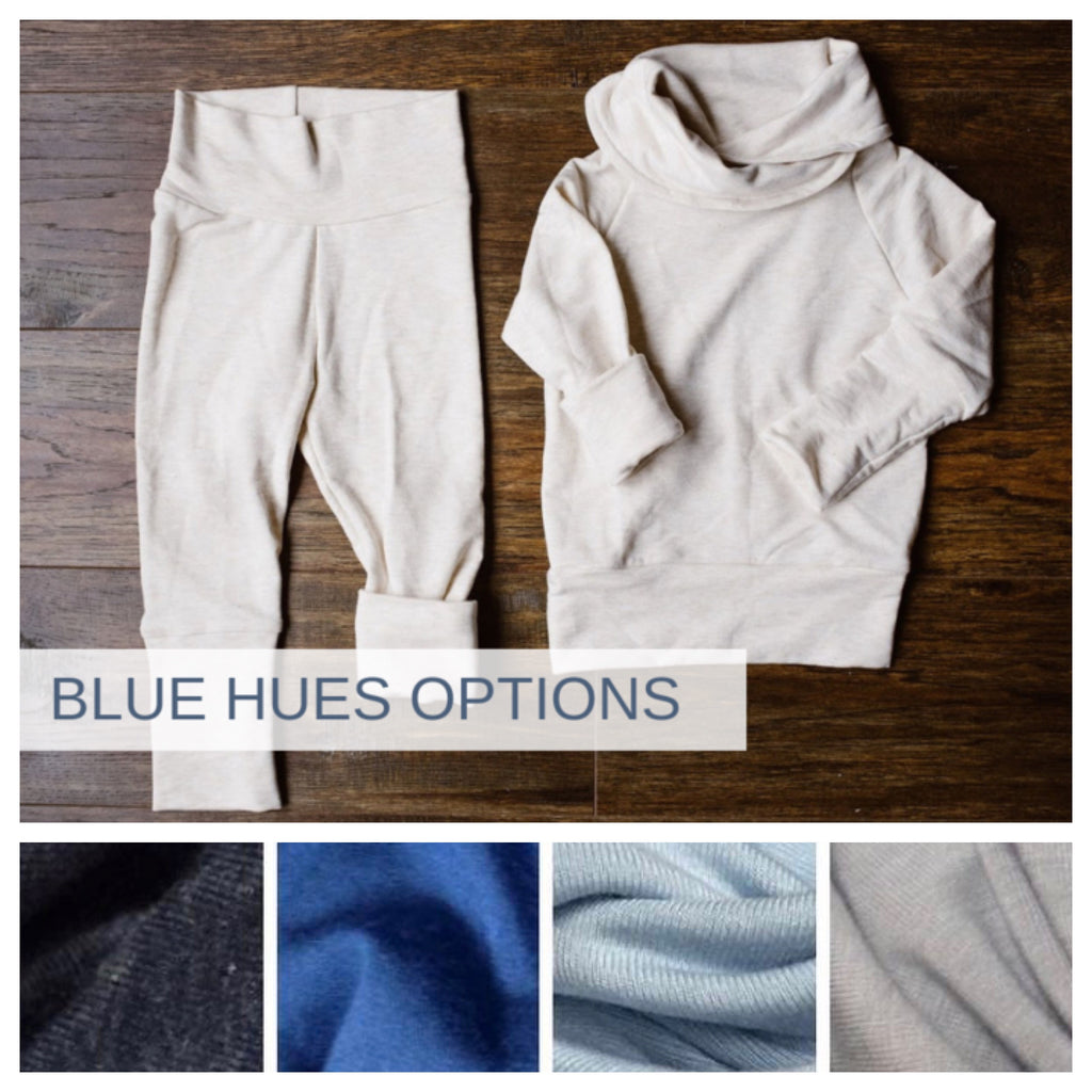 OUTFIT | Hooded Sweatshirt and Joggers | Hood or Cowl | BLUE HUES PREORDER