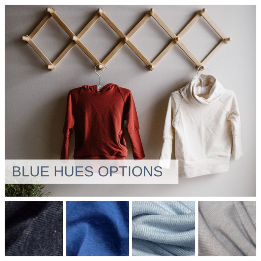Hood or Cowl neck with pockets | BLUE HUES PREORDER