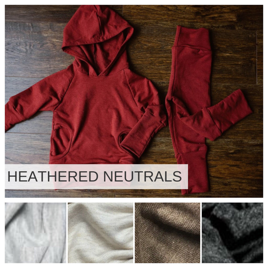 OUTFIT | Hooded Sweatshirt and Joggers | Hood or Cowl | Heathered Neutrals Preorder