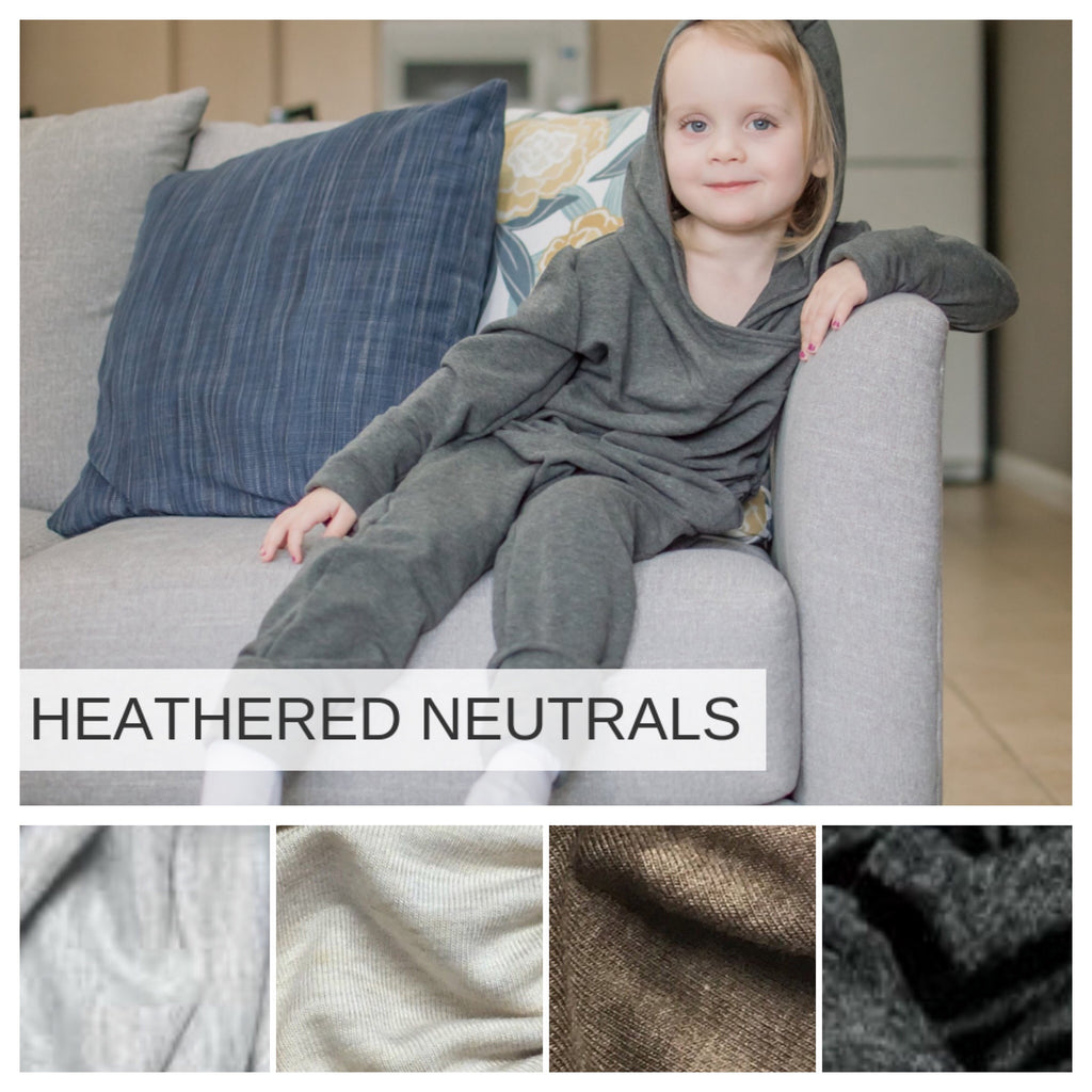 Hooded Romper | Heathered Neutrals Preorder