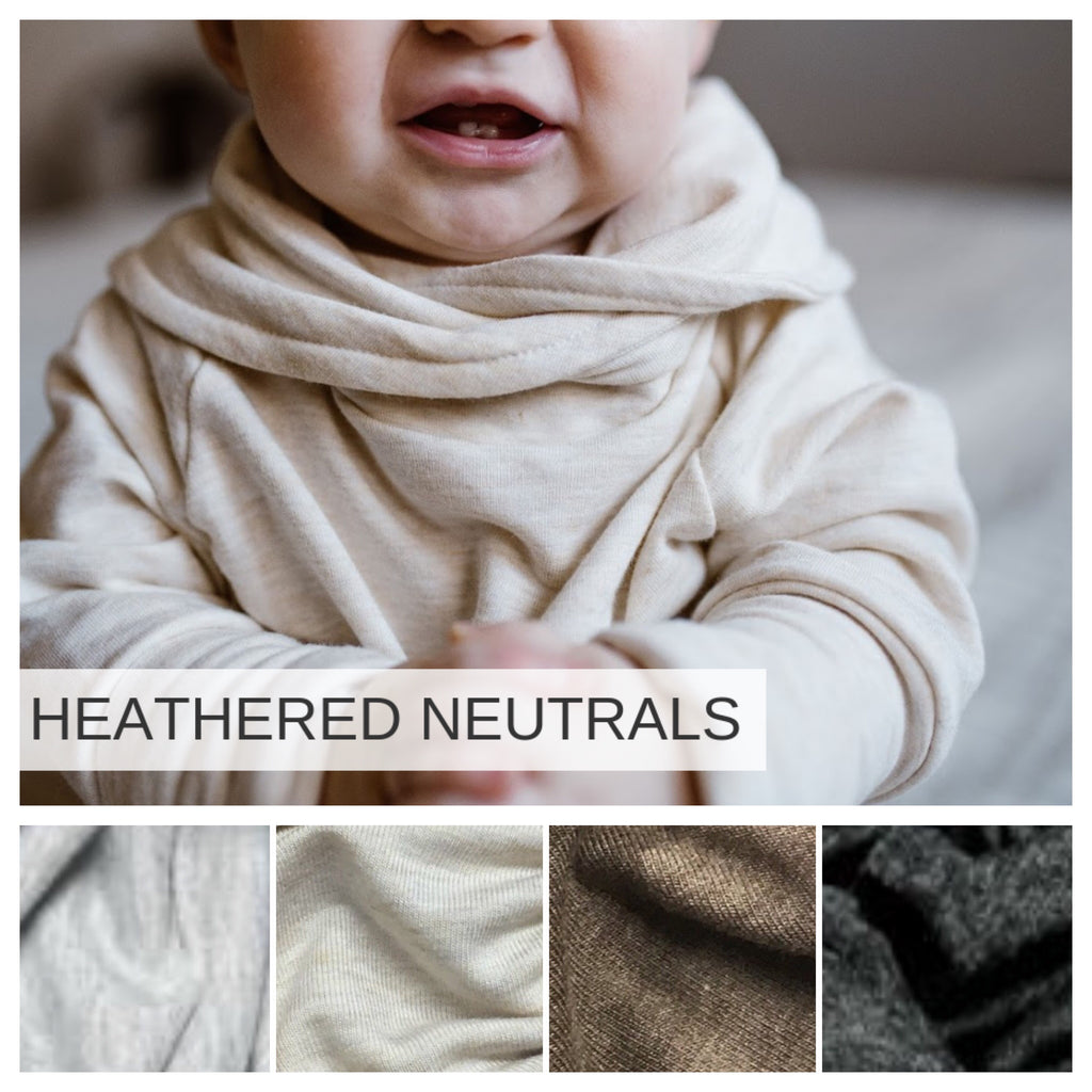 Hood or Cowl neck with pockets |  Heathered Neutrals Preorder