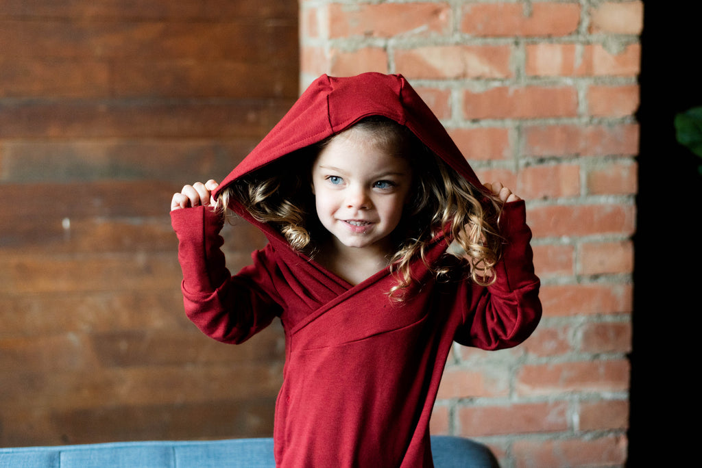 Long Sleeve Hooded Romper | Valentine's Day Basics