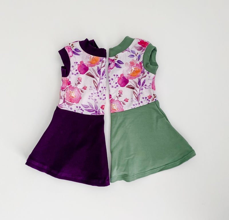 Olive & Flower Sleeveless Peplum
