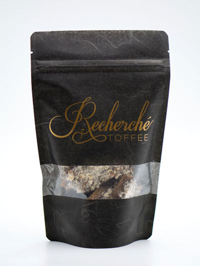 Resealable Black Bag with See thru Window  4 oz