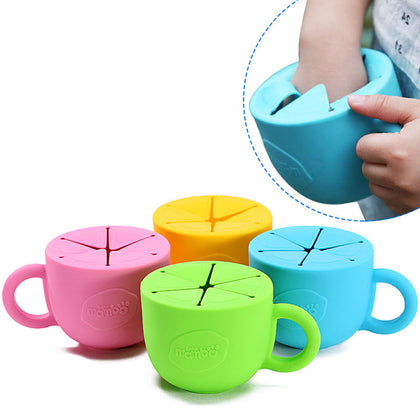 Soft silicone food cup 450ml utensils for children snack